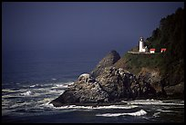 Lighthouse at Haceta Head, afternoon. Oregon, USA