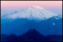 Mount Baker, sunrise, Mount Baker Glacier Snoqualmie National Forest. Washington (color)