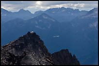 Hidden Lake Peak and lookout, Mount Baker Glacier Snoqualmie National Forest. Washington