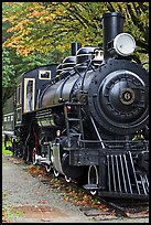 Historic steam locomotive, Newhalem. Washington (color)
