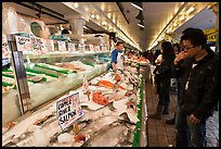 Fish market, Pike Place Market. Seattle, Washington ( color)