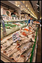 Fishmonger stall in Main Arcade. Seattle, Washington ( color)