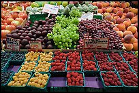 Display of fresh fruit, Pike Place Market. Seattle, Washington ( color)