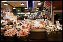 Seafood vending, Pike Place Market. Seattle, Washington ( color)