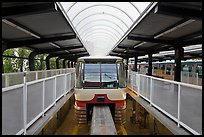 Monorail at station. Seattle, Washington (color)