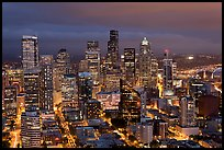 Downtown Seattle by nite. Seattle, Washington ( color)