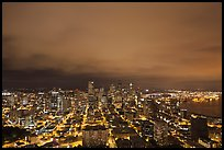 Downtown skyline by night. Seattle, Washington ( color)