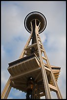 Space needle from the base. Seattle, Washington (color)