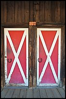 Doors, Winthrop. Washington (color)
