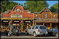 Stores in western style, Winthrop. Washington (color)