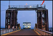 Ferry approaching through gate, Coupeville. Olympic Peninsula, Washington ( color)