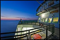 Port Townsend Coupeville Ferry upper deck at dusk. Olympic Peninsula, Washington ( color)