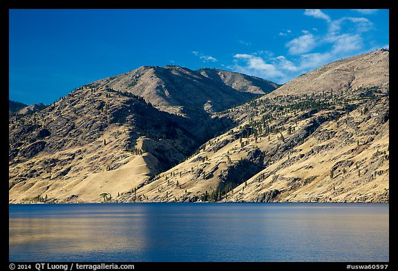 Hills bordering Lake Chelan. Washington (color)