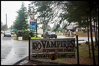 No Vampires sign near Forks. Olympic Peninsula, Washington ( color)