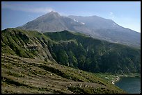 View of the crater. Mount St Helens National Volcanic Monument, Washington