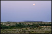 Full moon over Wahluke Ponds, Hanford Reach National Monument. Washington ( color)