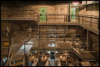 Coolant room for nuclear reactor B, Hanford Unit, Manhattan Project National Historical Park. Washington ( color)