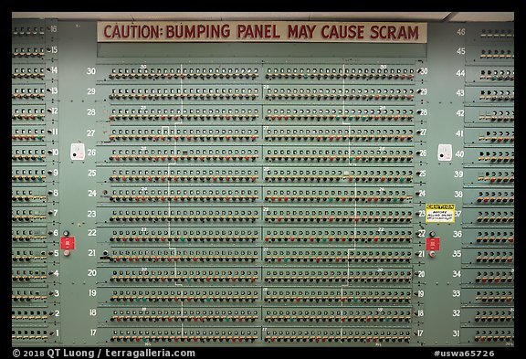 Control panel for nuclear reactor B, Hanford Unit, Manhattan Project National Historical Park. Washington (color)