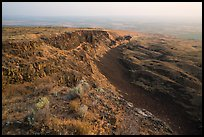 Basalt Cliff and hardened lava flow, Saddle Mountain, Hanford Reach National Monument. Washington ( color)