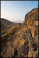 Cliff and Saddle Mountain at sunrise, Hanford Reach National Monument. Washington ( color)