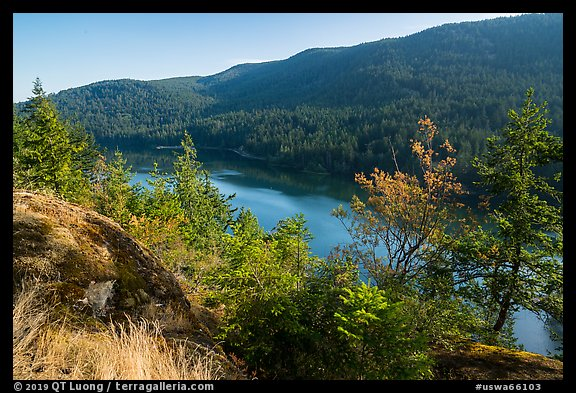 Cascade Lake, Moran State Park. Washington (color)