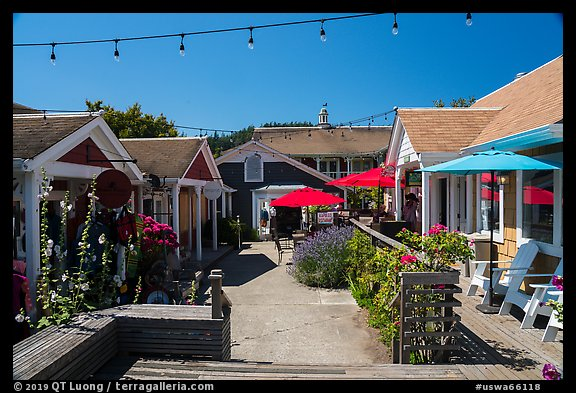 Shops, Eastsound, Orcas Island. Washington (color)
