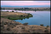 Columbia River and Rattlesnake Mountains at sunset, Hanford Reach National Monument. Washington ( color)