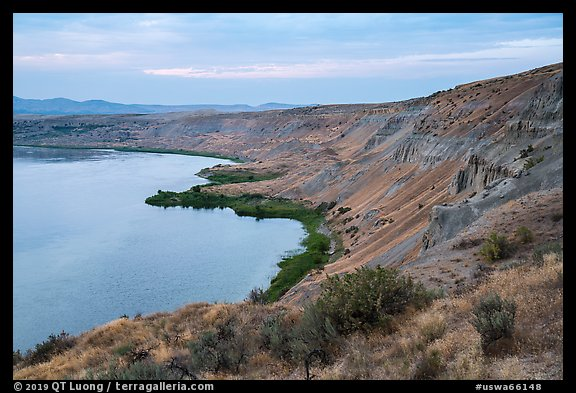 White Cliffs, Hanford Reach National Monument. Washington (color)