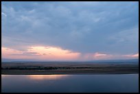 Columbia River and distant rainstorm at sunset, Hanford Reach National Monument. Washington ( color)