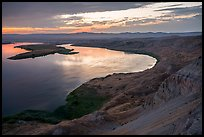 Sunset over Columbia River from White Cliffs, Hanford Reach National Monument. Washington ( color)