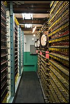 Room with wiring, nuclear reactor B, Hanford Unit, Manhattan Project National Historical Park. Washington ( color)