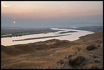Sun setting over Columbia River, Hanford Reach National Monument. Washington ( color)
