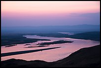 Columbia River and islets at sunset, Hanford Reach National Monument. Washington ( color)