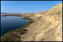 White Cliffs, afternoon, Hanford Reach National Monument. Washington ( color)