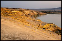 Sand dunes, white bluffs, and Columbia River, Hanford Reach National Monument. Washington ( color)