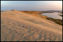 Sand dunes and Columbia River at sunset, Hanford Reach National Monument. Washington ( color)
