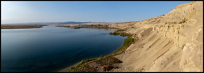White Bluffs and Columbia River, Hanford Reach National Monument. Washington (Panoramic color)