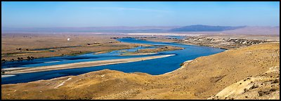 Columbia River, Hanford Sites, White Bluff area, Hanford Reach National Monument. Washington (Panoramic color)