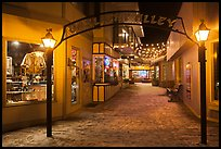 Gaslight Alley by night. Jackson, Wyoming, USA ( color)