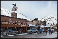 Downtown Jackson in winter. Jackson, Wyoming, USA ( color)