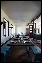 Dinning room inside barracks. Fort Laramie National Historical Site, Wyoming, USA ( color)