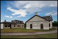 Colonel Quarters and Post Surgeon Quarters. Fort Laramie National Historical Site, Wyoming, USA ( color)