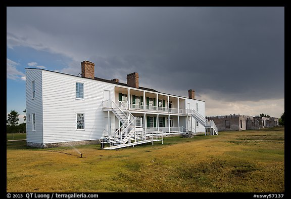Old Bedlam, oldest building in Wyoming. Fort Laramie National Historical Site, Wyoming, USA (color)