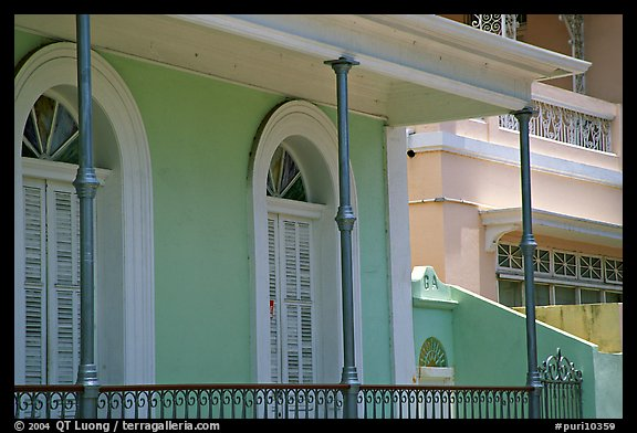 Detail of porch, Ponce. Puerto Rico (color)