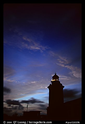 Lighthouse at dusk, Cabo Rojo. Puerto Rico (color)