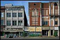 Historic commercial buildings. Selma, Alabama, USA (color)