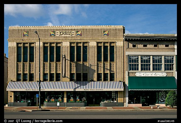 Historic store buildings. Selma, Alabama, USA (color)