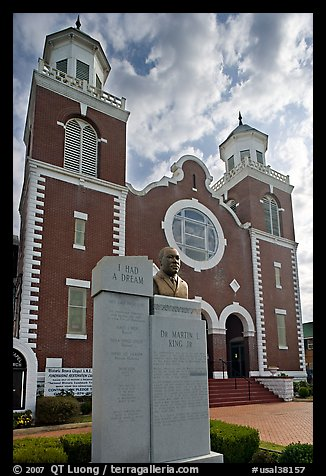 Selma-Montgomery march memorial and Brown Chapel. Selma, Alabama, USA (color)