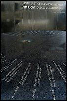 Table and wall with flowing water, Civil Rights Memorial. Montgomery, Alabama, USA ( color)