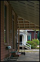 Porch, bench, and buildings in Old Alabama Town. Montgomery, Alabama, USA ( color)